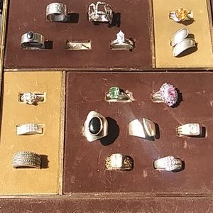 Lot of 17 Sterling Silver rings lot #4 Resale